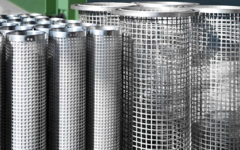 Filter cartridges based on fine wire mesh