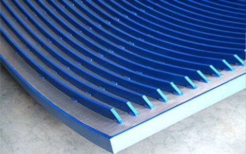 Pro-SLOT® wedge wire reinforced bent screen